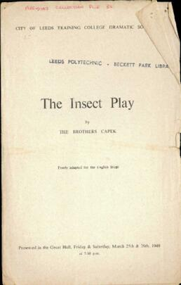 The Insect Play, 25-26 March 1949.