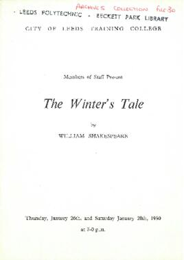 The Winter's Tale, 26 and 28 January 1950.