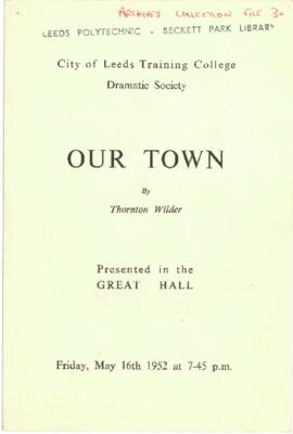 Our Town, 16 May 1952.