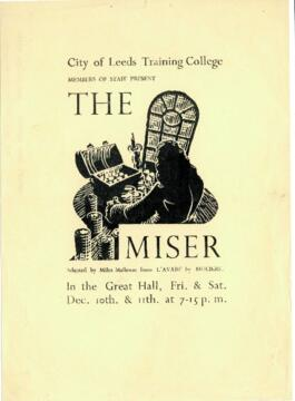 The Miser, 10-11 December [No year] [Handbill].
