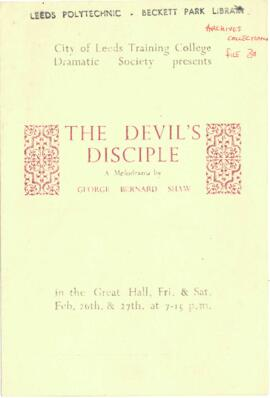 The Devil's Disciple, 26-27 February [No year].