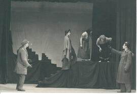 Unnamed play B, five cast members and steps, [no date].