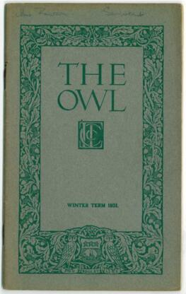The Owl, Winter 1931