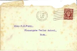 Letter in envelope dated 7 April 1936 from G. H Gray to Miss F. M. Fenby.