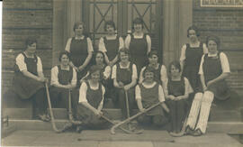 Macaulay Hockey team 1922-23. Postcard.