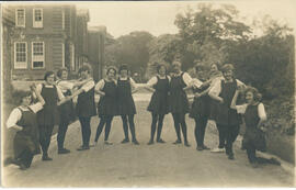 Macaulay Dancing team 1922-23. Postcard
