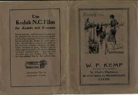 Brown Kodak photograph wallet. W. F. Kemp St Chad's Pharmacy.