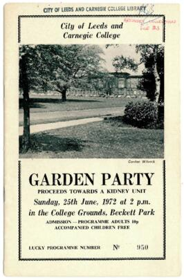 City of Leeds and Carnegie College Garden Party