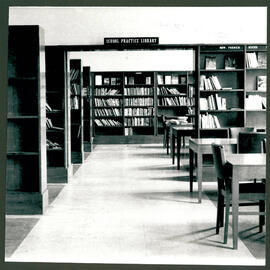 School Practice Library, shelves.