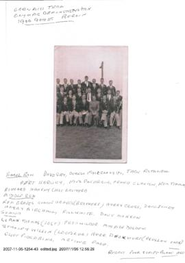 Carnegie Gym Display team Olympic Games 1936, with names appended