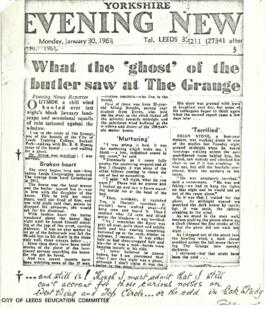 What the ghost of the butler saw at The Grange. Yorkshire Evening News