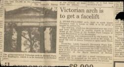 Victorian Arch is to get a facelift.