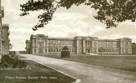 Military Hospital, Beckett Park, Leeds. Postcard
