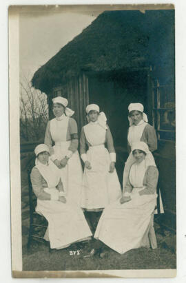 Some of the nurses at Beckett Park. Photograph.