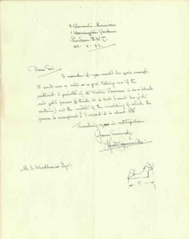 Letter from Howard Somerville, dated 22 March 1933