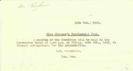 Notice of meeting, dated 15 February 1945