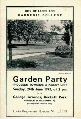 City of Leeds and Carnegie College Garden Party 24 June 1973