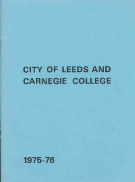 City of Leeds and Carnegie College, Prospectus 1975-76