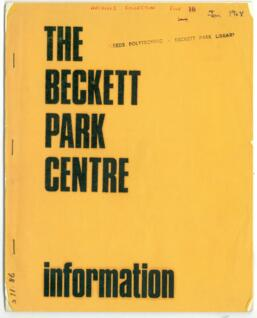 The Beckett Park Centre Information.