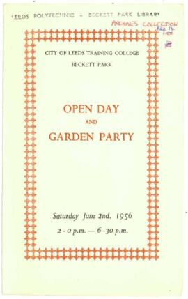 City of Leeds Training College. Beckett Park. Open Day and Garden Party.