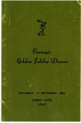 Carnegie Golden Jubilee Dinner.