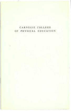 Carnegie College of Physical Education. Prospectus.