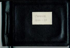 Carnegie 1936-37. Black leather photo album