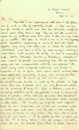 Letter from Jack to Am dated 29 September 1937